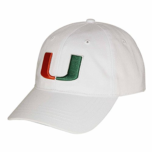 NCAA Miami Hurricanes Adult Unisex Epic Washed Twill Cap  Adjustable Size