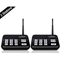 Wireless Intercom System (New Version), TekeyTBox 1800 Feet Long Range 10 Channel Digital FM Wireless Intercom System for Home and Office, Walkie Talkie System for Outdoor Activity (2 Stations Black)