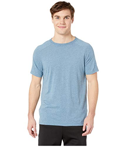 - Alo Yoga Men's The Triumph Crew Neck Tee, Denim Triblend, M
