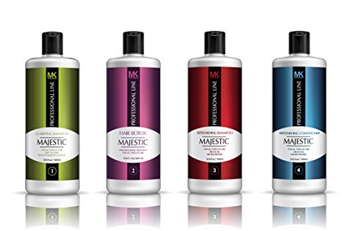 Amazon Com Majestic Hair Botox 1000ml 33 8oz Complete Kit Formaldehyde Free Made In Usa Beauty