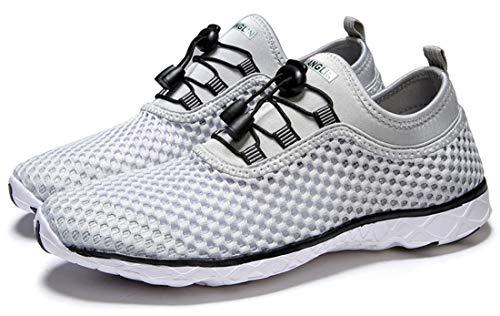 Zhuanglin Women's Quick Drying Aqua Water Shoes,Lightgrey,9 B(M) US