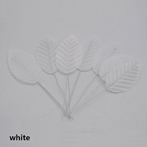 30Pcs 14 Color Nylon Silk Leaf Scrapbooking Flower Leaves Artificial Flower For Wedding Decoration Diy Wreath Gift Craft ()