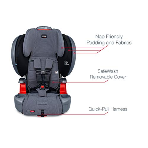 415oyY3djKL - Britax Grow With You ClickTight Plus Harness-2-Booster Car Seat | 3 Layer Impact Protection - 25 To 120 Pounds, Otto Safewash Fabric [New Version Of Pinnacle]