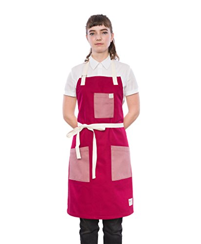 Crew Apparel Wine and Plum Japanese Twill Standard Apron Made in USA by Crew Apparel