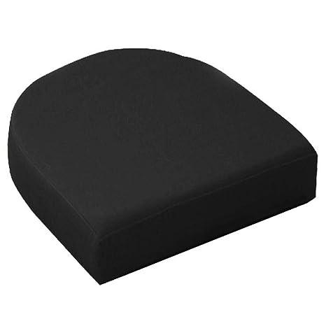 Wondrous Sigmat Waterproof U Shape Seat Cushion Outdoor Indoor Chair Pad 18X18X4 Black Ibusinesslaw Wood Chair Design Ideas Ibusinesslaworg