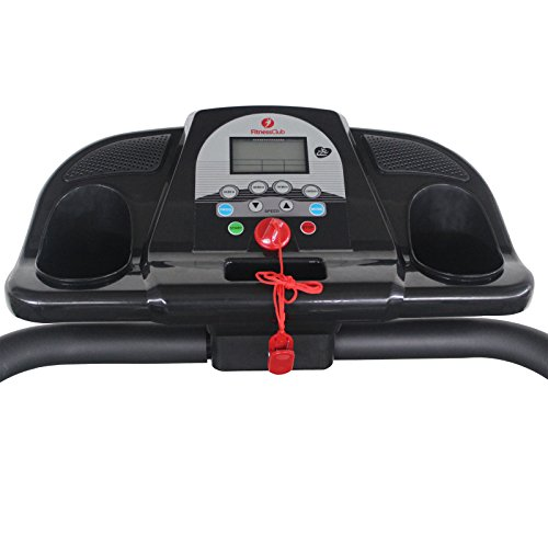 Fitnessclub 500W Folding Electric Motorized Treadmill Portable Running Gym Fitness Machine Black