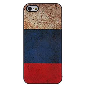 Russian Flag Pattern Aluminum Hard Case for iPhone 5/5S