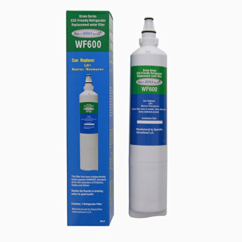 AquaFresh - Best WF600 Plastic Replacement Refrigerator Water Filter (Comparable in Size and Performance to the LG 5231JA2006A/LT600P)