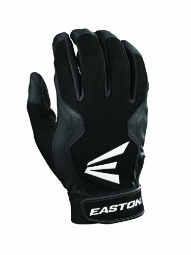 Easton Youth Typhoon III Batting Gloves (Medium, Black/Black)