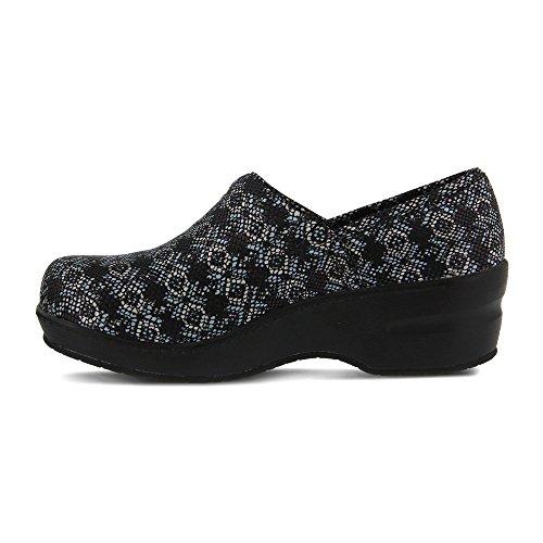 Lente Stap Professionele Dames Neppie Werkschoen Zwarte Python