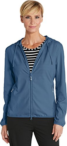 - Coolibar UPF 50+ Women's Packable Sunblock Jacket - Sun Protective (XX-Large- Marine Navy)
