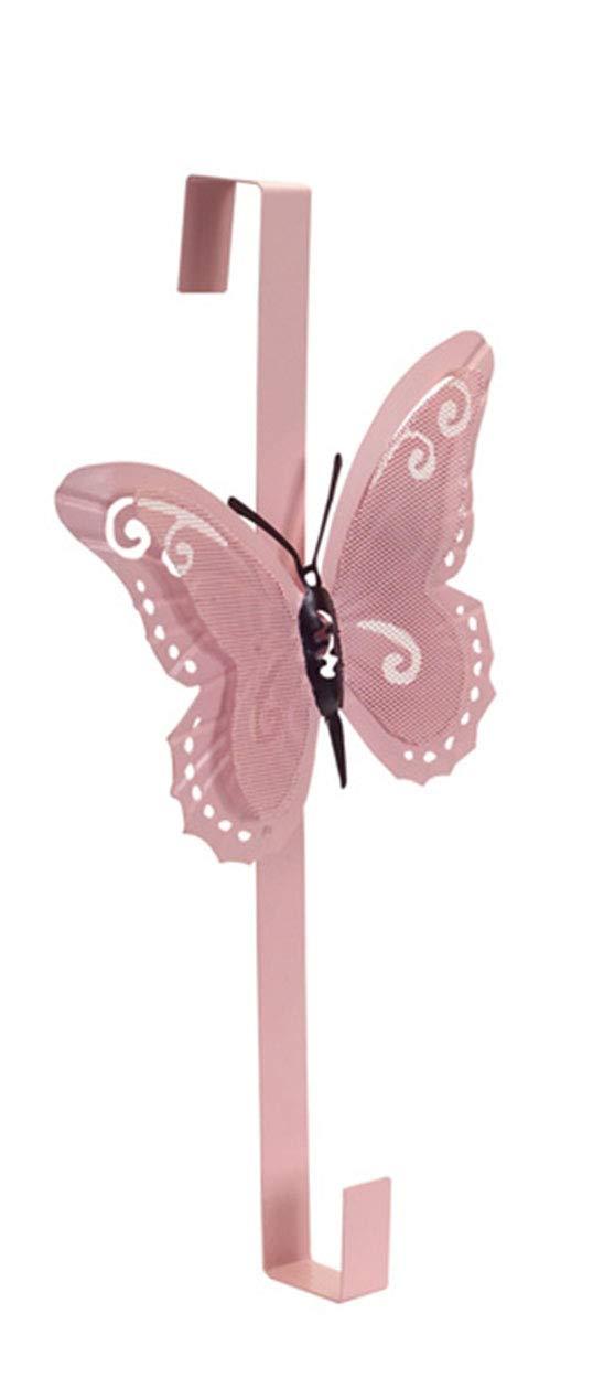 Melrose Spring Decor - Pastel Butterfly Door Wreath Hanger 3 Asst Colors by Melrose