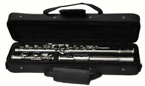 Hallelu HFL-300 Flute W/case Silver Plated Keys by Hallelu Music
