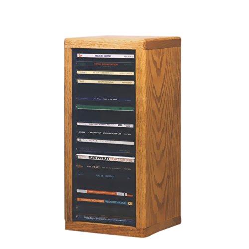 (Cdracks Media Furniture Solid Oak Desktop or Shelf CD Cabinet Capacity 20 CD's Honey Finish)