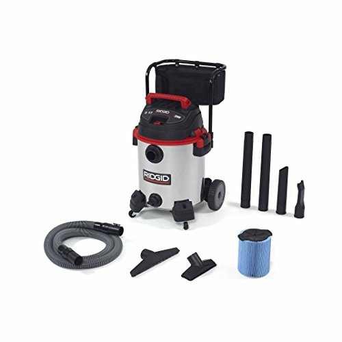 Ridgid 50353RID 1610RV Wet/Dry Vacuum, Stainless Steel, 16 gal, Red