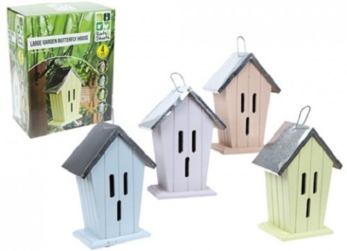 1x Tin Roof Timber Garden Butterfly Conservation House/Hotel 49x58x47cm Choice of 4 difference colours PMS