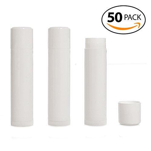 Lip Balm Containers - Milliard Empty Lip Balm Tubes, Empty Lip Balm Containers BPA Free - White 50 Count