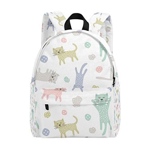 College Bookbag Childish Cats Creative Print Schoolbag Unisex Backpack Hiking Daypacks Travel Sports Bags]()