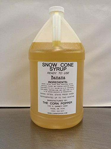 - Snow Cone & Shaved Ice Syrup, made by The Corn Popper (Banana)