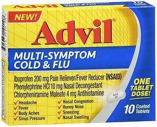 Advil Multi-Symptom Cold & Flu Coated Tablets - 10 ct