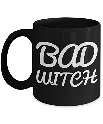 Bad Witch Coffee Mug For Women Black Ceramic Holiday Gift For Her Halloween Gifts 2017 2018 Cookie Jar & Pen Holder]()