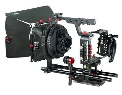 FILMCITY cámara jaula Rig Kit para Sony A7s cámara con caja mate y ...