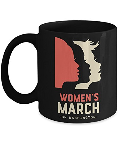 Million Women's March 2017 Black Coffee Mug - I'm Still With Her
