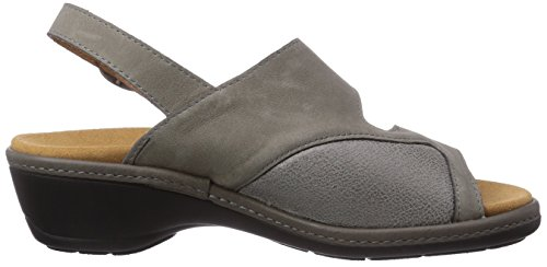Gevavi Zuecos mujer 4977 de gris BIGHORN Sandale 06 grijs piel Grau grau wqrBtw