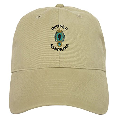 CafePress Bombae Sapphire - Baseball Cap with Adjustable Closure, Unique Printed Baseball Hat