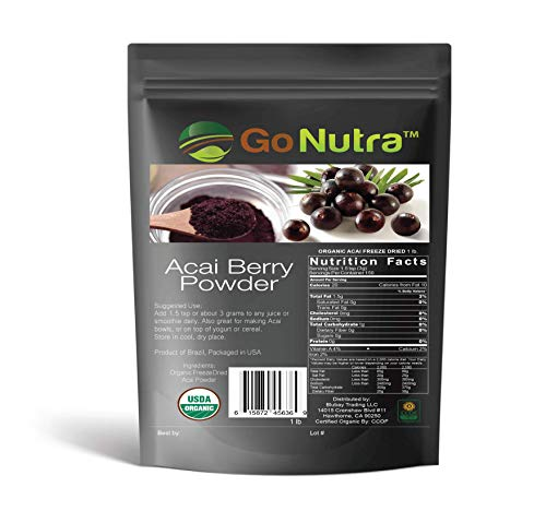 Organic Pure Acai Berry Powder Freeze Dried Wholesale 1 lb Bag 16 Ounces