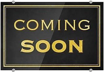 18x12 5-Pack Classic Gold Premium Brushed Aluminum Sign Coming Soon CGSignLab
