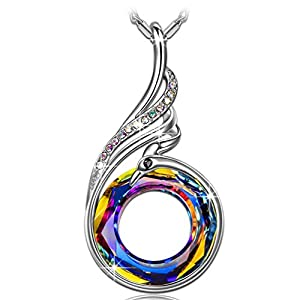 Kate Lynn Necklaces for Women Nirvana of Phoenix Pendant Necklaces Crystals from Swarovski Jewelry Gifts for Her Birthday Anniversary 18.0″+2.0″ with Gift Box
