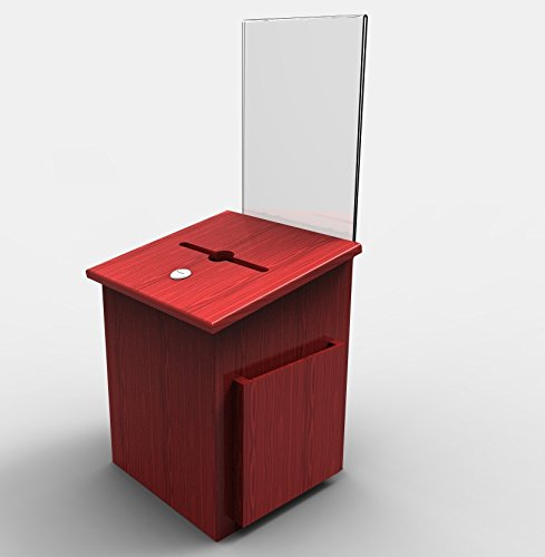 FixtureDisplays Comment Collection Suggestion Box Donation Charity Box Ballot Sign Holder 11571 11571 by FixtureDisplays