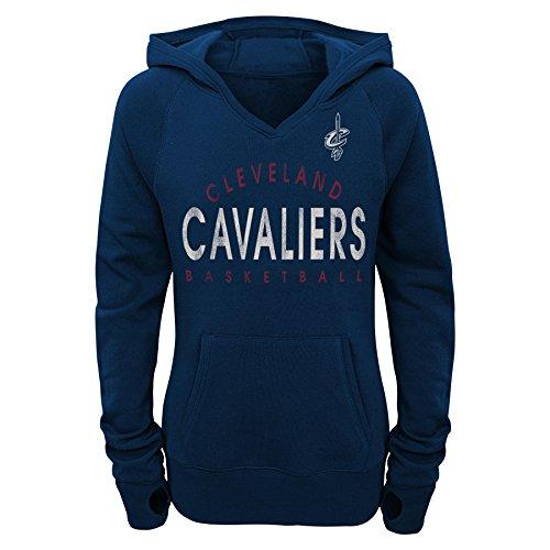 NBA Junior Girls Cavaliers Victory Pullover Hoodie, Xl(15-17), Dark Navy