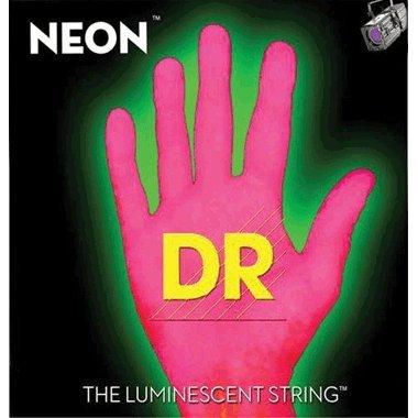 (DR Strings Hi-Def NEON Pink Coated Lite 7-String Electric Guitar Strings (9-52))