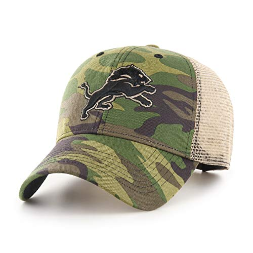 (OTS NFL Detroit Lions Male Nameplate All-Star Adjustable Hat, Camo, One Size)