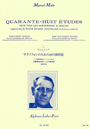 Mule: 48 Études d'Après Ferling (Nvlle ed.Augment.de 12 Études Nouvelles)Saxophone