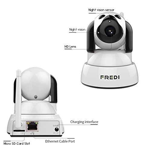 415p3drErrL - FREDI Wireless Camera Baby Monitor 720P HD Wireless Security Camera With Two-Way Talking,Infrared Night Vision,Pan Tilt,P2P Wps Ir-Cut Nanny ip Camera Motion Detection