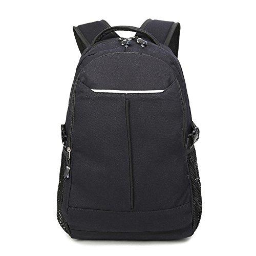 Lienzo escuela Colegio mochila mochilas deportes viaje mochila para estudiantes/niños/hombres Negro