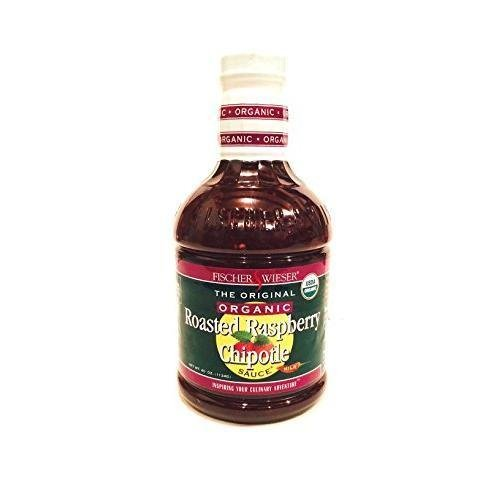 Raspberry Roasted Sauce (Organic Fischer and Wieser Razzpotle Roasted Raspberry Chipotle Sauce, 40-Ounce Bottle)