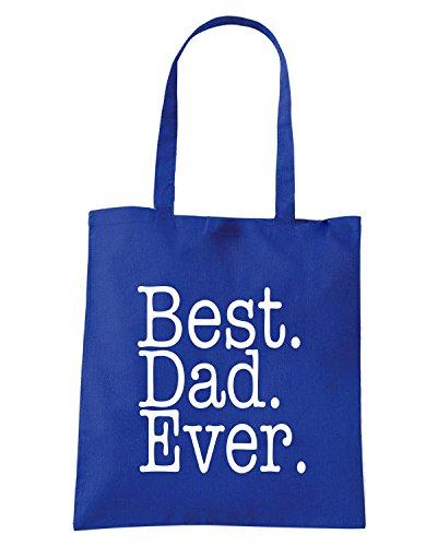 T-Shirtshock - Bolsa para la compra FUN0748 Best Dad Ever Azul Real