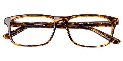Glassesshop Retro Optical-Quality RX-Able Eyeglasses Rectangle Eyewear - Mens Frame