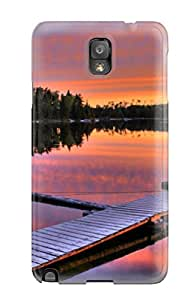 Nannette J. Arroyo's Shop 9624020K35813253 High Impact Dirt/shock Proof Case Cover For Galaxy Note 3 (sunset On The Lake)