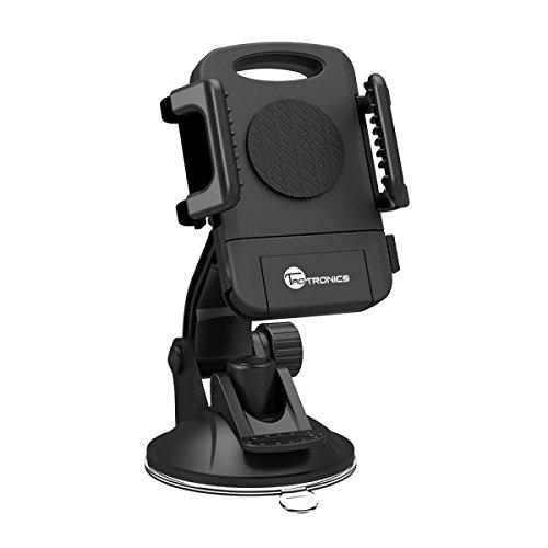 Handyhalterung Auto TaoTronics Halterung für Windschutzscheiben und Armaturenbretter mit einer Hand eingestellt, extra haftend mit Sauggreifer, verstellbarer Sichtwinkel