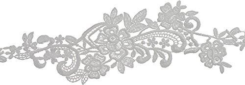 Decorative Trimmings 20514-8-010Y-001 White Floral Spray Venice Lace Trim, 3-1/4'' x 10 yd