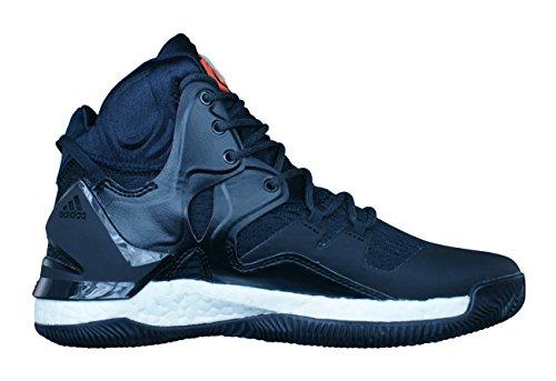 Adidas D Rose 7, Chaussures de Tennis Homme, Noir (Negbas/Naranj/Neguti), 46 EU