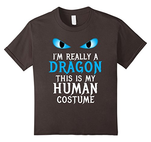 Really Scary Halloween Costumes For Girls (Kids I'm Really a Dragon Costume Cool Scary Funny Halloween Shirt 12 Asphalt)