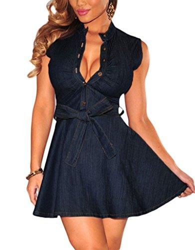 Buy belted denim dress - 2