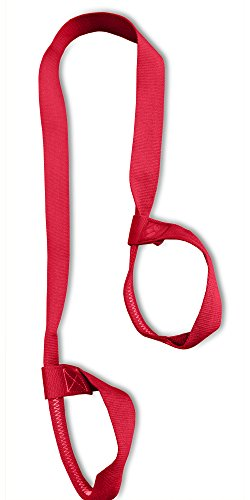 "Clever Yoga Mat Strap Sling Made With The Best, Durable Cotton – Comes With Our Special ""Namaste"" (Red)"