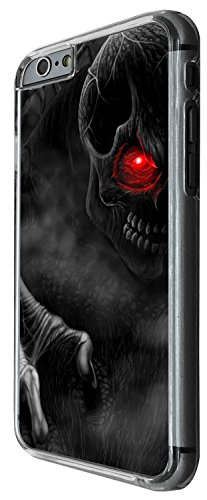 1548 - Cool Fun Trendy ghost skeleton blood walking dead scary skull tattoo biker skull Design iphone 4 4S Coque Fashion Trend Case Coque Protection Cover plastique et métal - Clear